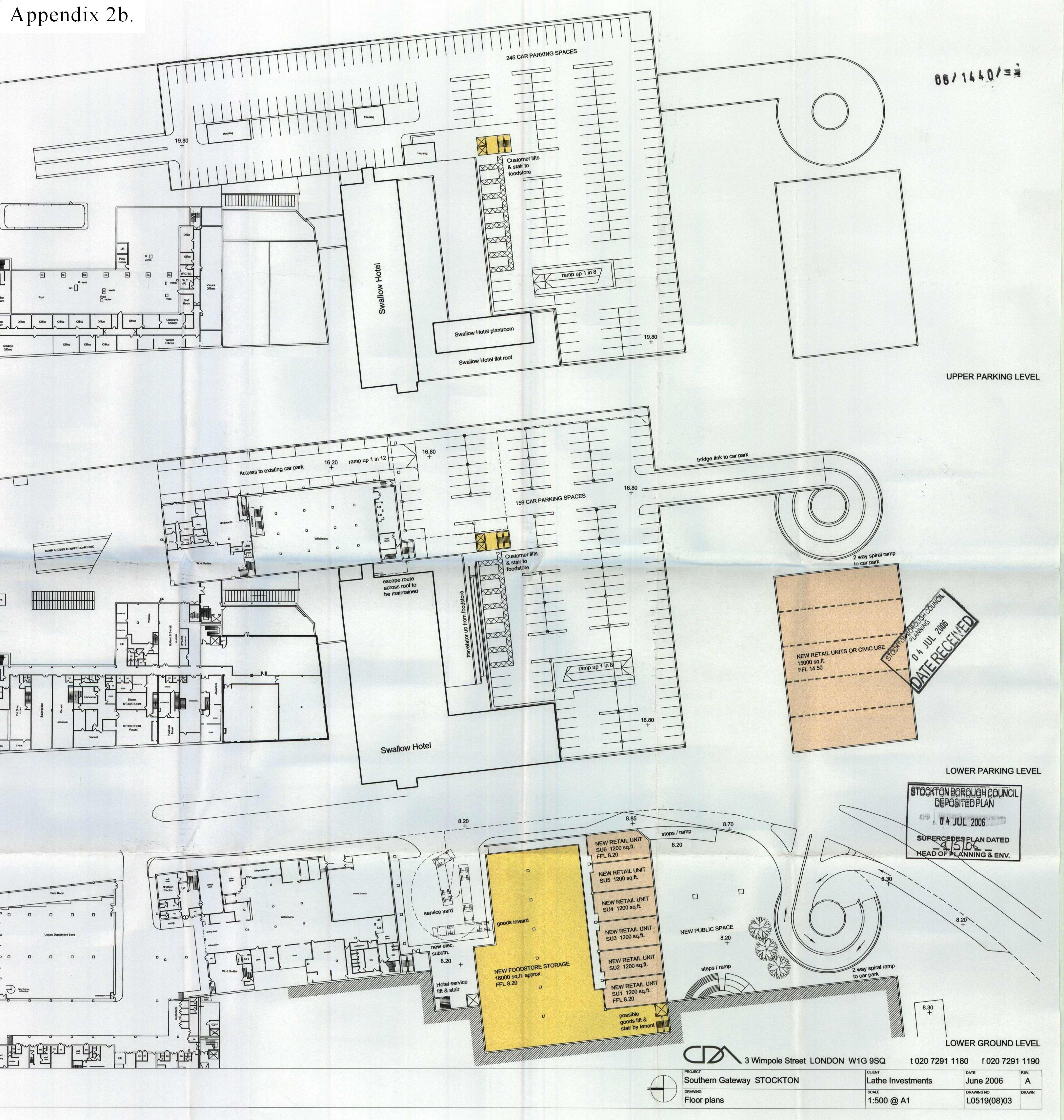 7 layout 2  Stockton Council Planning Committee Minutes. Car Park Layout Design
